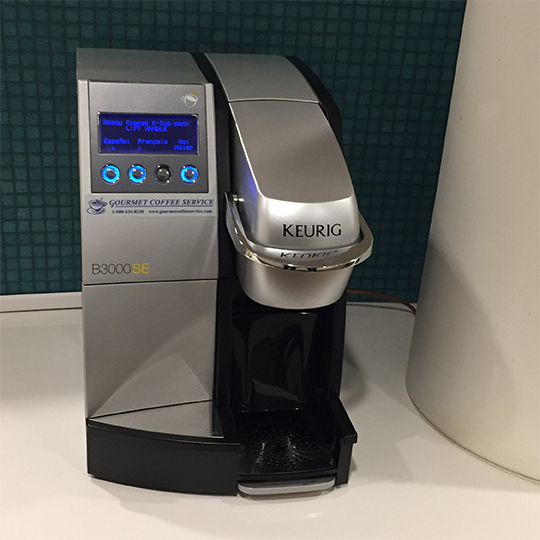 Keurig coffee machine.